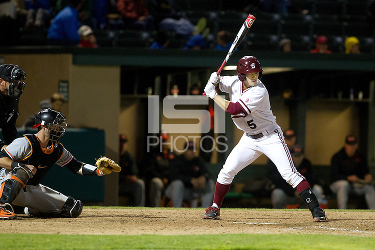STANFORD, CA - MAY 15, 2015--Stanford's vs Oregon State at Klein Field at Sunken Diamond. Stanford lost 5-2.