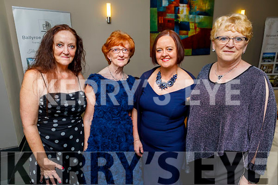 Marie Kelter, Avril O'Shea, Pamela Teahan and Ruth Kelter attending the Fenit Lifeboats 25th Anniversary Black Tie Charity Ball in Ballyroe Heights Hotel on Saturday.
