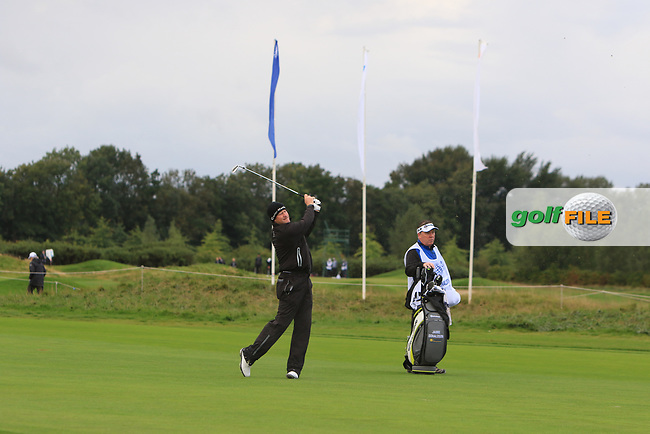 Jamie Donaldson (WAL) on the 5th fairway during Round 1 of the KLM Open 2017 at the Dutch in the Netherlands. 14/09/2017<br /> Picture: Golffile | Thos Caffrey<br /> <br /> <br /> All photo usage must carry mandatory copyright credit     (&copy; Golffile | Thos Caffrey)