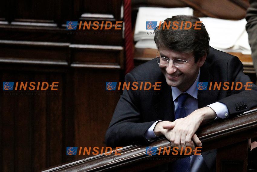 Dario Franceschini.Roma 13/06/2012  Camera dei Deputati - Voto di  fiducia sulle norme sulla corruzione nella pubblica amministrazione.Foto Serena Cremaschi Insidefoto