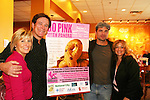 "Guiding Light's Frank Dicopoulos ""Frank Cooper"" and Daniel Cosgrove ""Billy Lewis"" pose with Jennifer and Lisa Edmonds (of the foundation mentioned below) as they donated their time for Young Women's Breast Cancer Awareness Foundation by going to Pittsburgh, PA on October 7, 2008 and went Pink with Panera. They visited three of 27 Panera Bread locations during the day where 100% of sales from their Pink Ribbon bagels went to the foundation and a portion of those sales all during the month of October. For more information go to www.breastcancerbenefit.org. The day started out with Star 100.7 and the hosts Kate and JR interviewed Frank Dicopoulos. The two actors then went to the CBS studio in Pittsburgh in the morning. The day was a great hit. (Photo by Sue Coflin/Max Photos)"