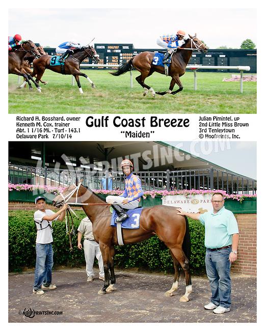 Gulf Coast Breeze winning at Delaware Park on 7/10/14