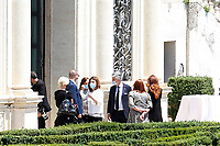 Ministers Luciana Lamorgese and Nunzia Catalfo, in the gardens of Villa Pamphilj, where the Italian Premier convened the States General of Economy. The summit was strictly behind closed doors and the press was kept outside. Rome (Italy), June 13th 2020<br /> Samantha Zucchi Insidefoto