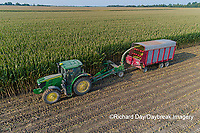 63801-10607 Farmer cutting corn for silage-aerial Marion Co. IL
