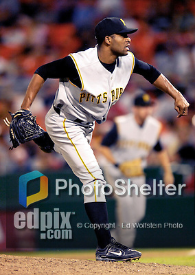 6 June 2007: Pittsburgh Pirates pitcher Damaso Marte in action against the Washington Nationals at RFK Stadium in Washington, DC. The Nationals defeated the Pirates 6-5 in the second game of their 3-game series...Mandatory Credit: Ed Wolfstein Photo
