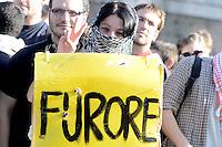 Roma, 14 Novembre 2012.Sciopero europeo contro la crisi e l'austerità.Lo spezzone degli studenti
