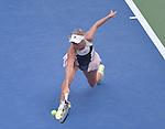 Caroline Wozniacki (DEN) defeats Jamie Loeb (USA)  6-2, 6-0 at the US Open in Flushing, NY on September 1, 2015.