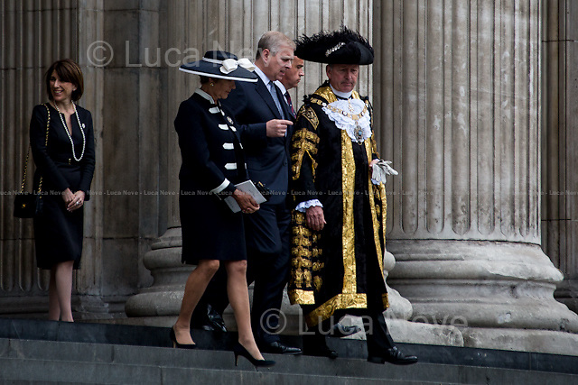 (In the middle) Prince Andrew (Duke of York, KG GCVO CD ADC P).<br />