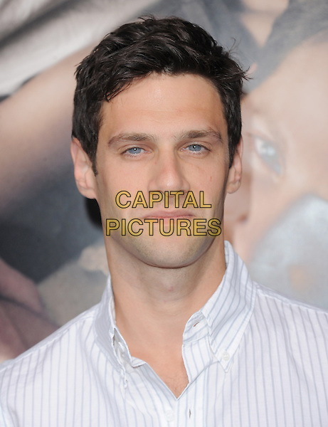 "Justin Bartha.""The Words"" Los Angeles Premiere held at Arclight Cinemas, Hollywood, California, USA..September 4th, 2012.headshot portrait white shirt stripe .CAP/RKE/DVS.©DVS/RockinExposures/Capital Pictures."