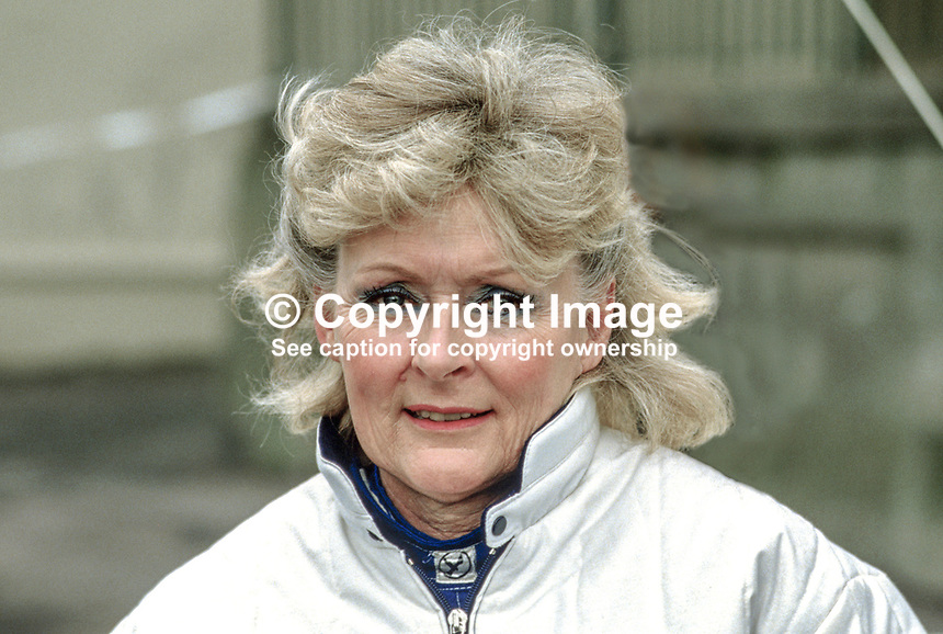Rosemary Smith, rally driver, Rep of Ireland, 19850406RS2..Copyright Image from Victor Patterson, 54 Dorchester Park, Belfast, UK, BT9 6RJ..Tel: +44 28 9066 1296.Mob: +44 7802 353836.Voicemail +44 20 8816 7153.Skype: victorpattersonbelfast.Email: victorpatterson@mac.com.Email: victorpatterson@ireland.com (back-up)..IMPORTANT: If you wish to use this image or any other of my images please go to www.victorpatterson.com and click on the Terms & Conditions. Then contact me by email or phone with the reference number(s) of the image(s) concerned.