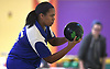 Daisha Howard of Kellenberg gets ready to roll during the Nassau-Suffolk CHSAA varsity girls bowling team championship against St. Dominic at Farmingdale Lanes on Thursday, Feb. 8, 2018. She bowled a 212 in her first game.