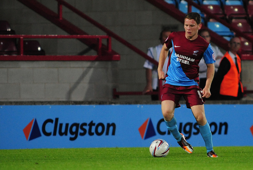 Scunthorpe United's Connor Jennings ..Football Friendly - Scunthorpe United v Middlesbrough - Wednesday 8th August 2012 - Glanford Park - Scunthorpe..