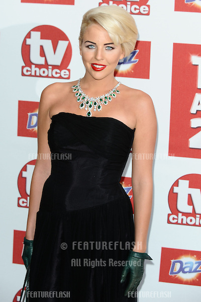 Lydia Bright arriving for the 2012 TVChoice Awards, at the Dorchester Hotel, London. 10/09/2012. Picture by:  Steve Vas / Featureflash