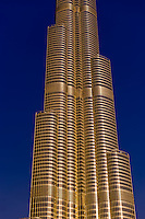 The Burj Khalifa (a.k.a. Burj Dubai), the tallest building in the world in downtown Dubai, United Arab Emirates