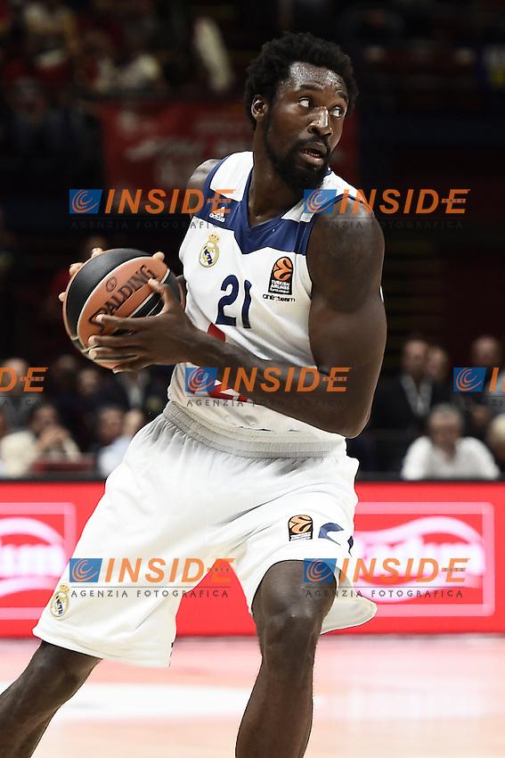 Milano 27/10/2016 - basket Eurolega / EA7 Milano - Real Madrid / foto Daniele Buffa/Image Sport/Insidefoto<br /> nella foto: Othello Hunter