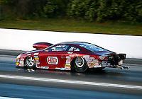 May 16, 2014; Commerce, GA, USA; NHRA pro stock driver Warren Johnson during qualifying for the Southern Nationals at Atlanta Dragway. Mandatory Credit: Mark J. Rebilas-USA TODAY Sports