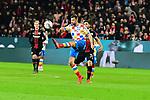 der Mainzer Alexander Hack am Ball beim Spiel in der Fussball Bundesliga, 1. FSV Mainz 05 - Bayer 04 Leverkusen (dunkel).<br /> <br /> Foto &copy; PIX-Sportfotos *** Foto ist honorarpflichtig! *** Auf Anfrage in hoeherer Qualitaet/Aufloesung. Belegexemplar erbeten. Veroeffentlichung ausschliesslich fuer journalistisch-publizistische Zwecke. For editorial use only. DFL regulations prohibit any use of photographs as image sequences and/or quasi-video.