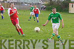 Castleisland v Ballyhar Dynamos  in their Division 2 local derby on Sunday evening..