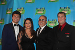 """Parker (L) and Blake O'Donnell with Gloria and Emilio Estefan - 2016 Rosie O'Donnell Theatre Kids """"We're Rehearsing for Life"""" attended by 2 of Rosie's kids Parker and Blake at the Marriott Marquis New York on September 28. 2016 in New York City. It honored Gloria Estefan accompanied by her husband Emilio for On Your Feet presented at the Marriott Marquis and the gala was at the Marriott ALSO. (Photo by Sue Coflin/Max Photos)"""
