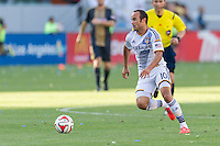 CARSON, CA - May 25, 2014: Los Angeles Galaxy midfielder Landon Donovan (10) during the LA Galaxy vs Philadelphia Union match at the StubHub Center in Carson, California. Final score, LA Galaxy 4, Philadelphia Union  1.