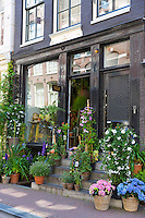 Traditional florist shop in the Nine Streets - De Negen Straatjes - 9 Streets district of Jordaan, Amsterdam