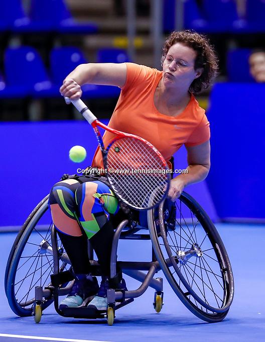 Rotterdam, Netherlands, December 12, 2017, Topsportcentrum, Ned. Loterij NK Tennis, Wheelchair Fleur Pieterse (NED)<br /> Photo: Tennisimages/Henk Koster