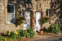 Cottages, Slaidburn village in the autumn, Clitheroe, Lancashire.
