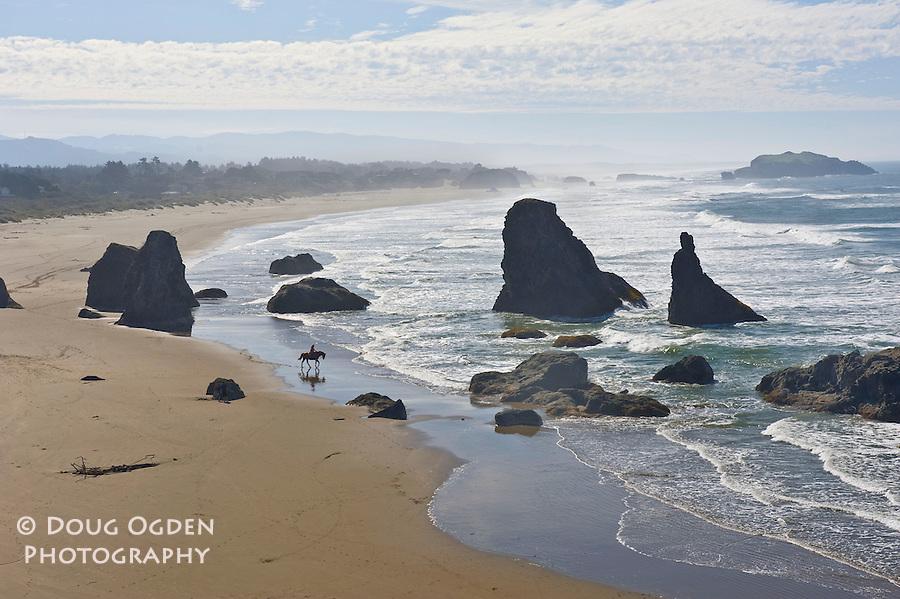 A solitary ride on an Oregon Beach