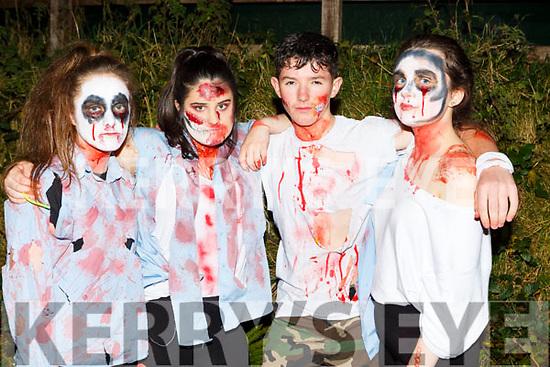 Gemma Kearney, Aine Sheehan, Alan Horgan, and Eilish Brosnan Castleisland at the Knocknagoshel Halloween Festival on Sunday night