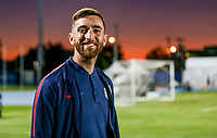 GEORGETOWN, GRAND CAYMAN, CAYMAN ISLANDS - NOVEMBER 19: Tyler Boyd #21 of the United States walks to the field during a game between Cuba and USMNT at Truman Bodden Sports Complex on November 19, 2019 in Georgetown, Grand Cayman.