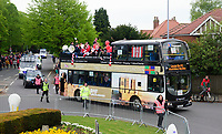 Part of the open top bus tour to celebrate Lincoln City winning the EFL Sky Bet League Two<br /> <br /> Photographer Andrew Vaughan/CameraSport<br /> <br /> The EFL Sky Bet League Two - Lincoln City - Champions Parade - Sunday 5th May 2019 - Lincoln<br /> <br /> World Copyright &copy; 2019 CameraSport. All rights reserved. 43 Linden Ave. Countesthorpe. Leicester. England. LE8 5PG - Tel: +44 (0) 116 277 4147 - admin@camerasport.com - www.camerasport.com