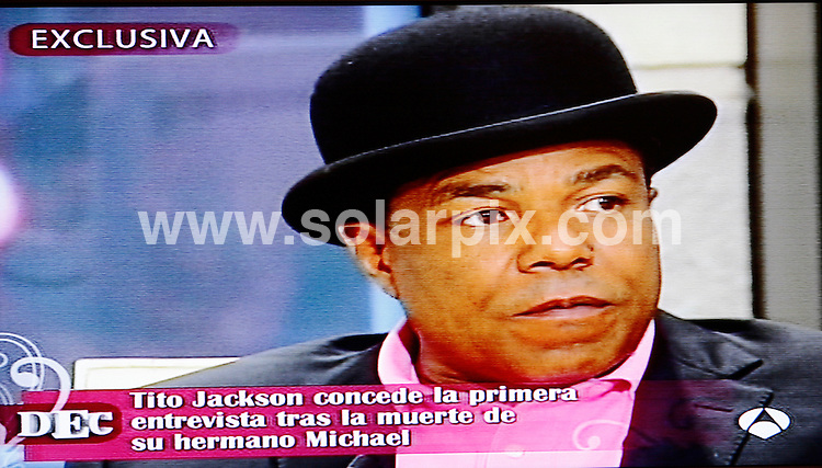 **ALL ROUND PICTURES FROM SOLARPIX.COM**.**WORLDWIDE SYNDICATION RIGHTS**.**COPY BY TOM WORDEN + 34 680152448 **.Still from Spanish TV Antena 3 program World  Exclusive interview with Tito Jackson the brother pop llegend deceased Michael Jackson...This pic:Tito Jackson..JOB REF: 9526       AB1       DATE:18.07.09.**MUST CREDIT SOLARPIX.COM OR DOUBLE FEE WILL BE CHARGED**.**ONLINE USAGE FEE  GBP 50.00 PER PICTURE - NOTIFICATION OF USAGE TO PHOTO @ SOLARPIX.COM**.**CALL SOLARPIX : +34 952 811 768 or LOW RATE FROM UK 0844 617 7637**