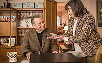 Dead in a Week: Or Your Money Back (2018)<br /> Tom Wilkinson and Marion Bailey <br /> *Filmstill - Editorial Use Only*<br /> CAP/MFS<br /> Image supplied by Capital Pictures