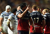 Steven Luatua of Bristol Bears. Gallagher Premiership match, between Bristol Bears and Bath Rugby on August 31, 2018 at Ashton Gate Stadium in Bristol, England. Photo by: Patrick Khachfe / Onside Images
