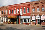 Downtown historic business district in Wabasha Minnesota USA