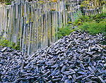 Devils Postpile National Monument, located near Mammoth Mountain in extreme northeatern Madera County in eastern California