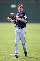 September 11 2008:  Mitch Dening of the Lowell Spinners, Class-A affiliate of the Boston Red Sox, during a game at Dwyer Stadium in Batavia, NY.  Photo by:  Mike Janes/Four Seam Images