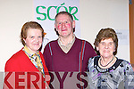 Agneas, Denis Courtney and Joan O'Connor at the Friends of Kenya Biddy dance in Kilcummin GAA clubhouse on Saturday night