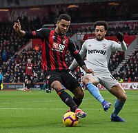 West Ham United's Felipe Anderson (right) battles with Bournemouth's Joshua King (right) <br /> <br /> Photographer David Horton/CameraSport<br /> <br /> The Premier League - Bournemouth v West Ham United - Saturday 19 January 2019 - Vitality Stadium - Bournemouth<br /> <br /> World Copyright © 2019 CameraSport. All rights reserved. 43 Linden Ave. Countesthorpe. Leicester. England. LE8 5PG - Tel: +44 (0) 116 277 4147 - admin@camerasport.com - www.camerasport.com