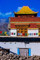 Choglamsar in the Leh Valley, Ladakh, Jammu and Kashmir State, India.