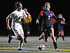 South Side No. 7 Ally Diez, right, gets pressured by Wantagh No. 22 Courtney Gendels during a Nassau County varsity girls' soccer Class A semifinal played at Cold Spring Harbor High School on Friday, October 30, 2015.<br />