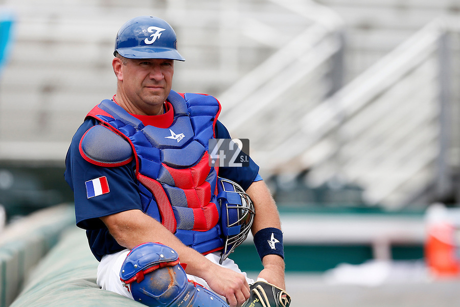 22 September 2012: Ray Fagnant is seen during South Africa 5-2 win over France during the 2012 World Baseball Classic Qualifier round, in Jupiter, Florida, USA.