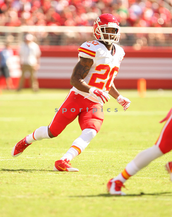 Kansas City Chiefs Chris Owens (20) during a game against the San Francisco 49ers on October 5, 2014 at Levi's Stadium in Santa Clara, CA. the 49ers beat the Chiefs 22-17.
