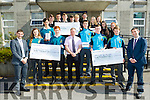 Killian Young, Jerry Enright and Ciarán Kelliher (Youth co-ordinator in Kerry and West Cork), pictured presenting Ipads and a €1000, on Saturday last, to Mounthawk Secondary School, Tralee, Gael Colaiste Chiarrai and CBS, The Green, Tralee, for part-taking in the Bank of Ireland School Progamme.