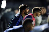 Alex Humfrey of Bath Rugby looks on during the pre-match warm-up. Anglo-Welsh Cup match, between Bath Rugby and Leicester Tigers on November 4, 2016 at the Recreation Ground in Bath, England. Photo by: Patrick Khachfe / Onside Images