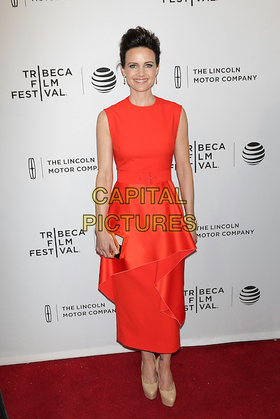 NEW YORK, NEW YORK - APRIL 15: Carla Gugino at the World Premiere of 'Wolves'during the 2016 Tribeca Film Festival at SVA Teather on April 15, 2016 in New York City. <br /> CAP/MPI99<br /> &copy;MPI99/Capital Pictures