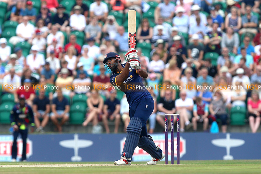 Varun Chopra hits four runs for Essex during Kent Spitfires vs Essex Eagles, NatWest T20 Blast Cricket at The County Ground on 9th July 2017
