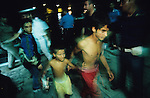 Kosovar Roma Gypsy refugees who came to Italy via Mafia boats from Montenegro after the Kosovo war in 1999. Many died on route and stray Mafia boats drifting where people died of exhaustion or worse, were found in the adriatic and picked up by cargo boats<br />