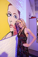 Montreal (Qc)CANADA - November 30, 2006 File Photo - Singer, painter and former reality tv contestant in QuebecElisabetta Fantone exhibit her paintings in Old-Montreal,