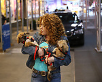 Bernadette Peters filming a promo for the Broadway Barks 2019 Announcement at Shubert Alley on June 20, 2019 in New York City.